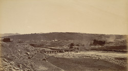 Safed Sang, view from across the river, showing Sapper bridge.